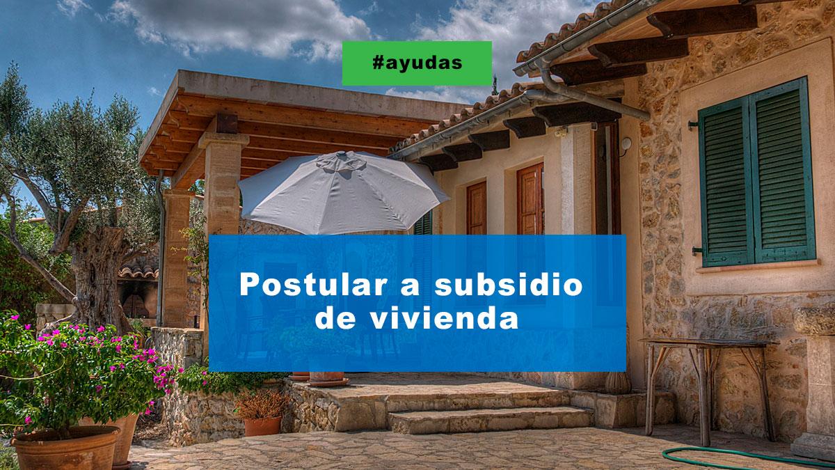 Postular a subsidio de vivienda para estudiantes